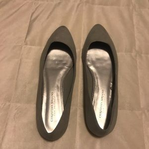 🥿 Christian Siriano for Payless silver flats 🥿